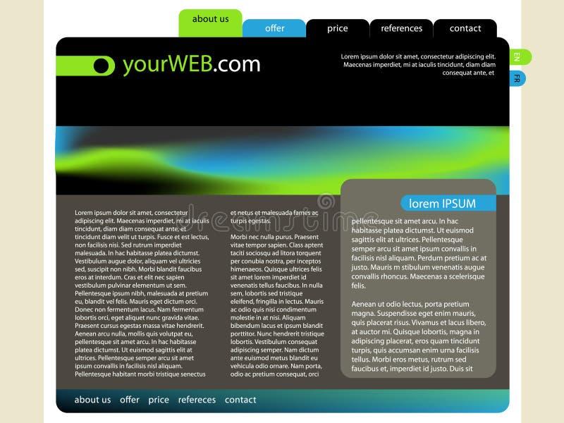 Web-Auslegung mit Unschärfe stock abbildung