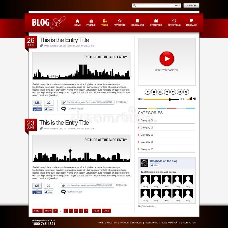 Web-Auslegung-site-Element-Schablone stock abbildung