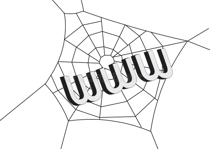 Web avec WWW illustration stock