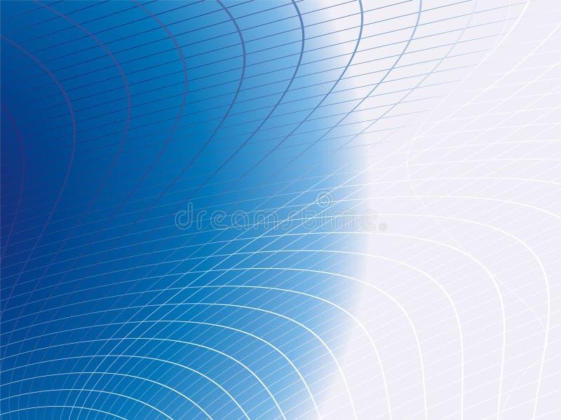 Web azul ilustração do vetor