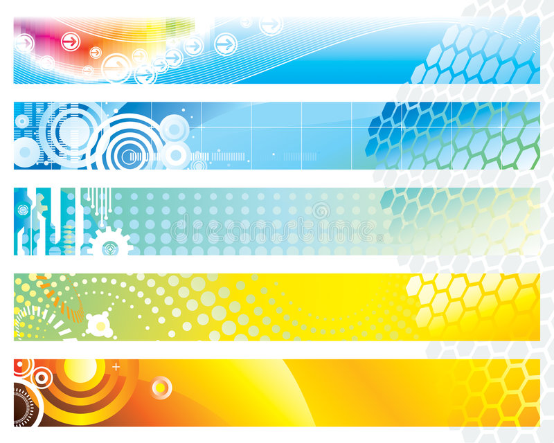 Web Banner. Banners design set of vector illustration layered