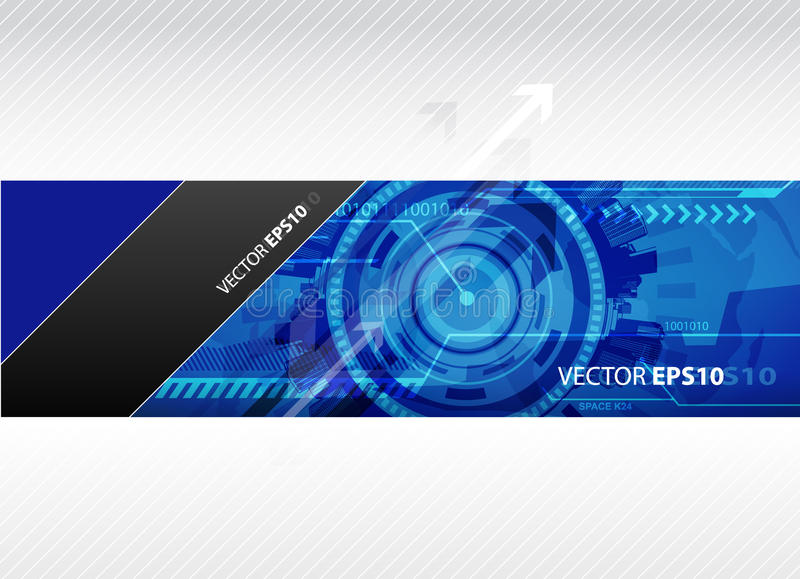 Download Web Banner With Blue Technology Illustration. Stock Vector - Image: 17019473