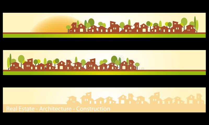 Web Banner - Business card vector illustration