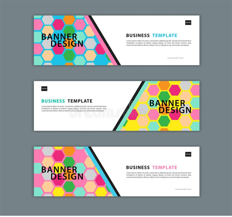 Web banner design template vector illustration, Geometric background, Abstract texture, advetisement layout royalty free illustration
