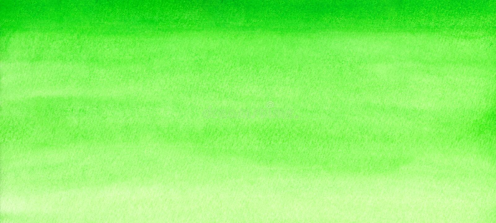 Web banner green watercolor gradient background abstract painted template with paper texture.  stock image