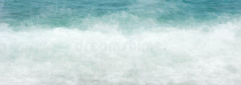 Web banner Sea water waves foam background stock image