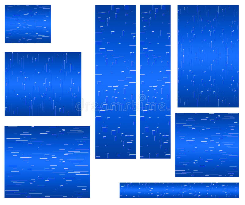 Web banner standard size blue royalty free stock image
