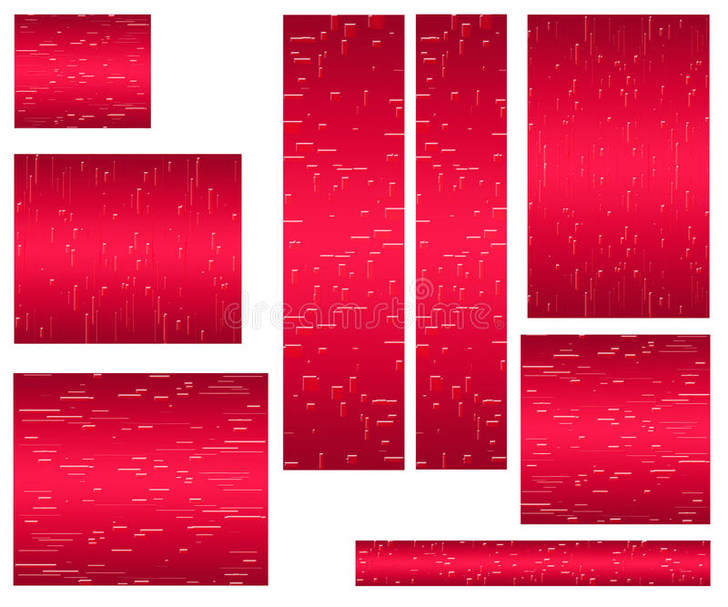 Web banner standard size red royalty free stock images