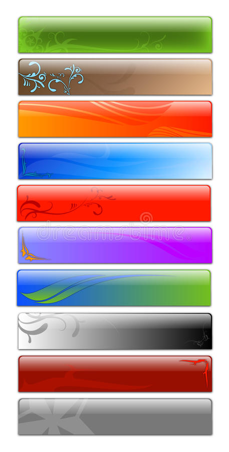 Download Web banners stock illustration. Image of illustrative - 11293218