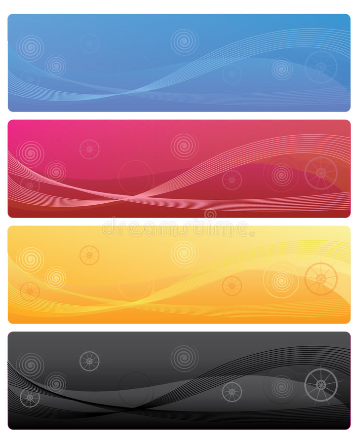 Web banners royalty free illustration