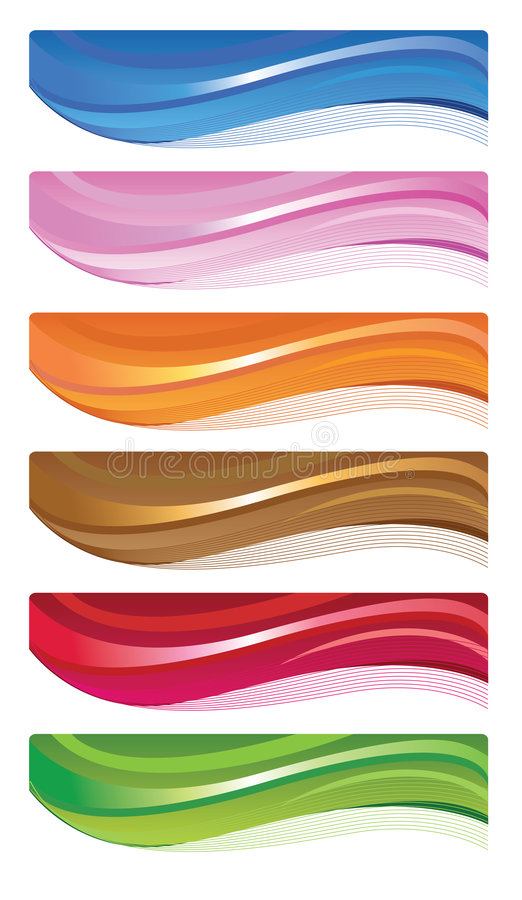 Download Web banners stock vector. Image of twirl, yellow, pink - 7435400