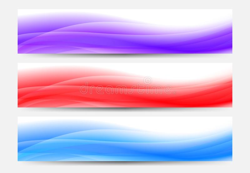 Web Banners Background in blue, red and purple royalty free illustration