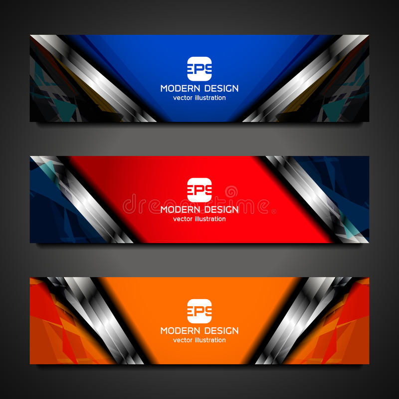 Web banners design. Business banners background for web, vector illustration royalty free illustration