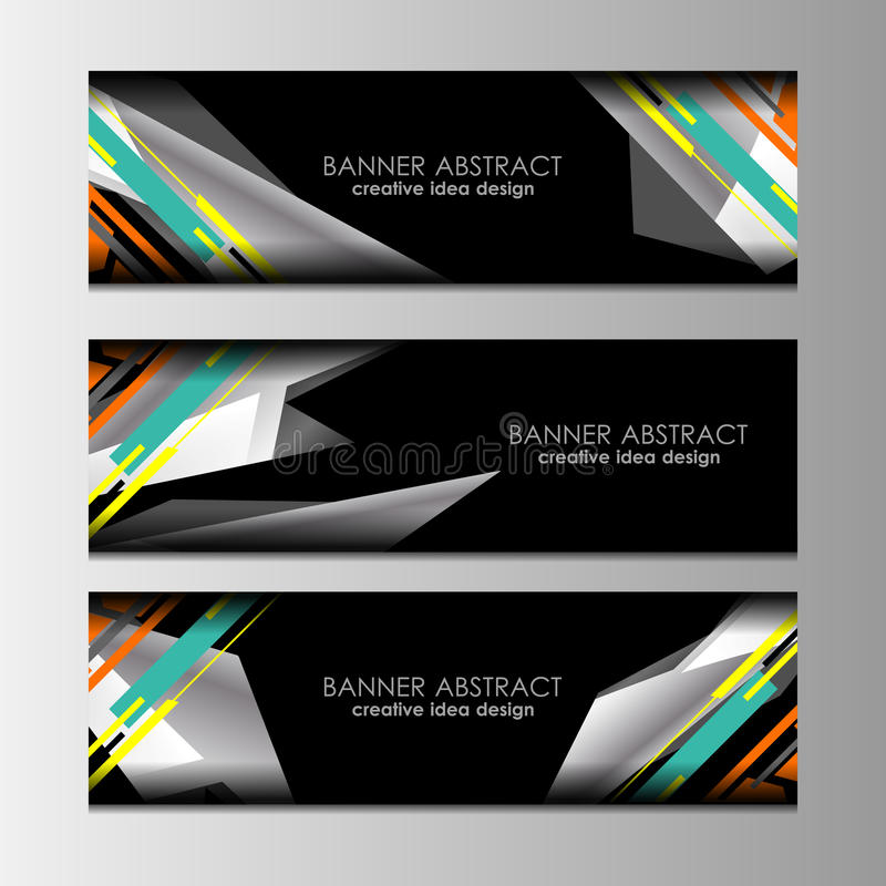 Download Web Banners Design stock vector. Image of space, decorative - 83706099