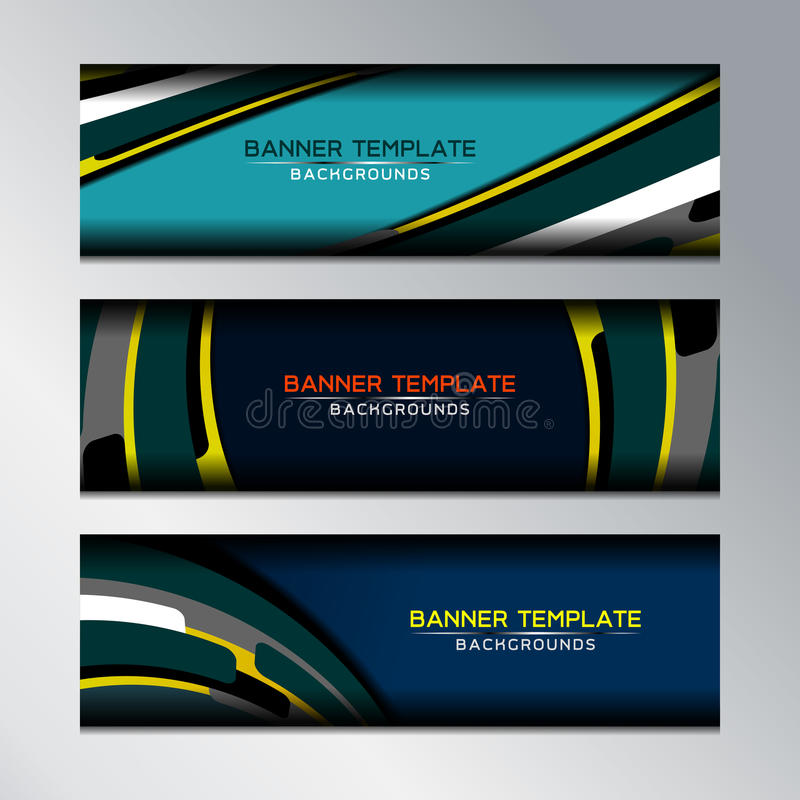 Download Web Banners Design stock vector. Image of digital, illustration - 83706294