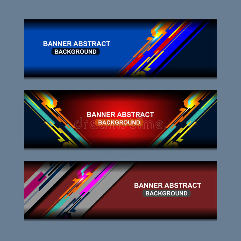 Download Web Banners Design stock vector. Image of graphic, banners - 83707180
