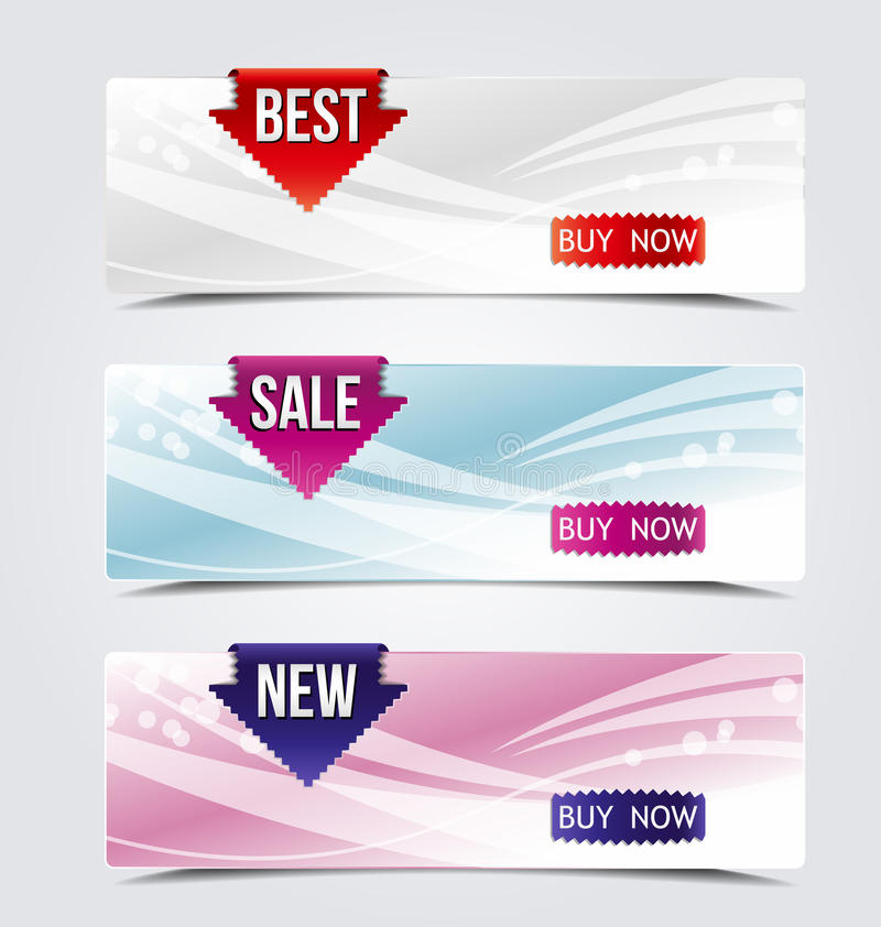 Download Web banners stock vector. Image of glass, modern, bright - 31991621