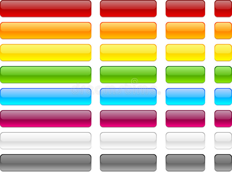 Web blank buttons. Long and short web buttons royalty free illustration