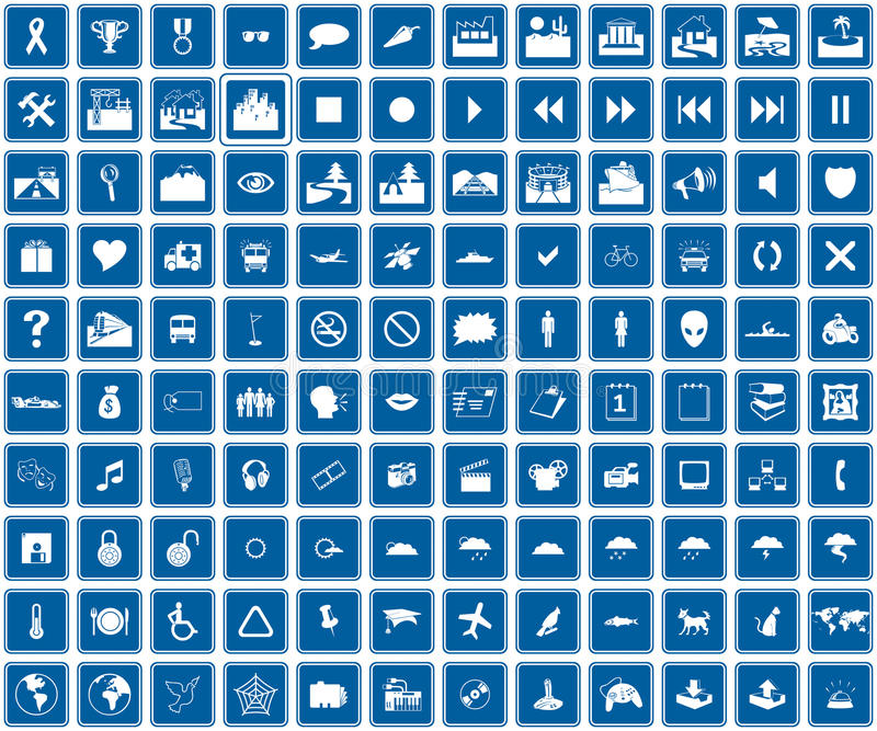 Web-Blauikonen stock abbildung