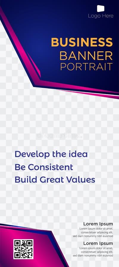Web blue-03 violeta comercial de las etiquetas de los jefes de la página web de la empresa de negocios de la bandera libre illustration
