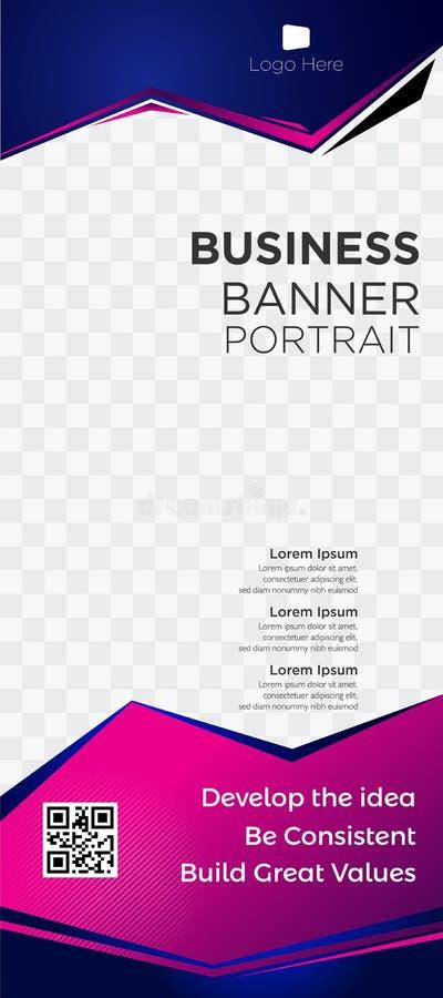 Web blue-02 violeta comercial de las etiquetas de los jefes de la página web de la empresa de negocios de la bandera libre illustration
