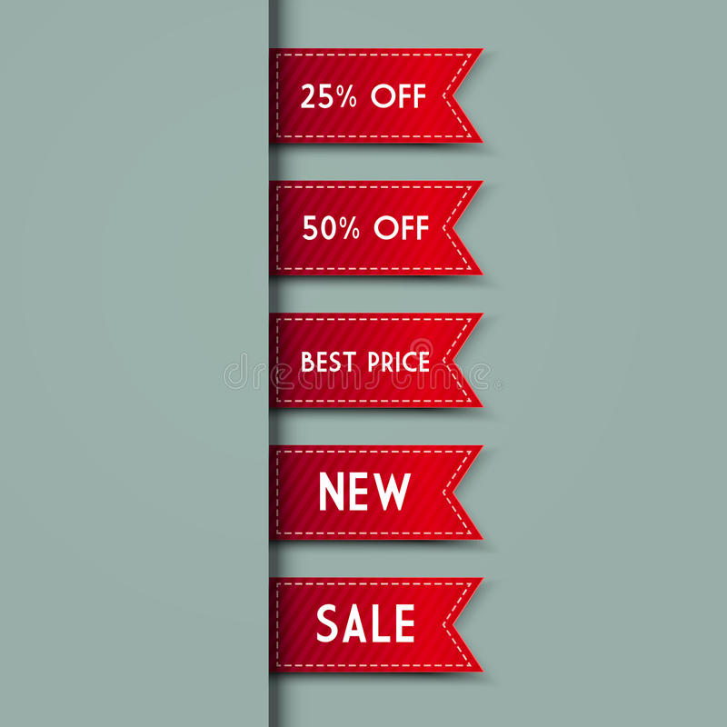 Web Bookmarks. Vector Illustration Stock Images
