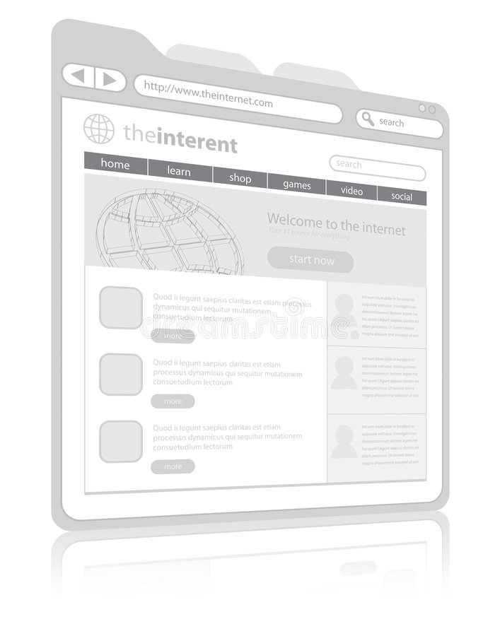 Web browser ilustração do vetor