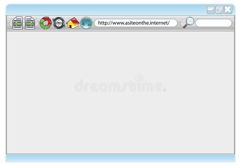 Web browser do Internet ilustração stock