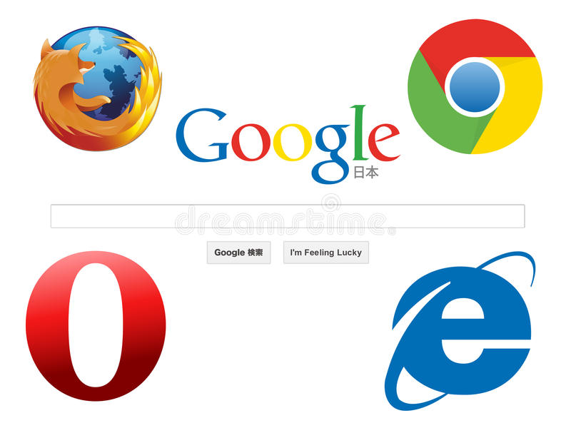 Web browser icons vector illustration