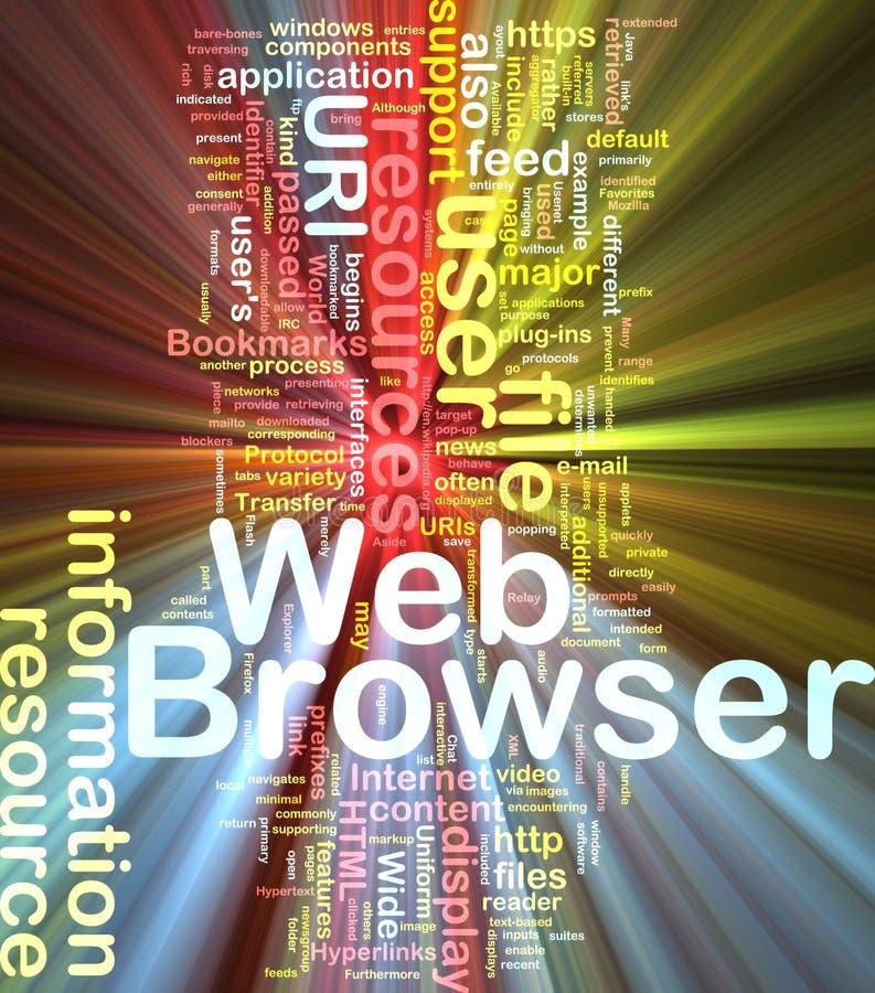 Web browserhintergrund-Konzeptglühen vektor abbildung