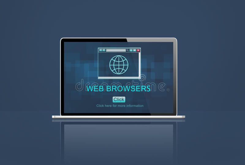 Web Browsers Digital Browsing Computer Concept.  royalty free illustration