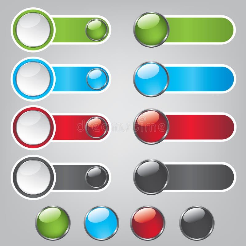 Web Bubble Icons Stock Image