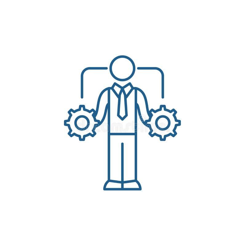 Business decision making line icon concept. Business decision making flat  vector symbol, sign, outline illustration. stock illustration