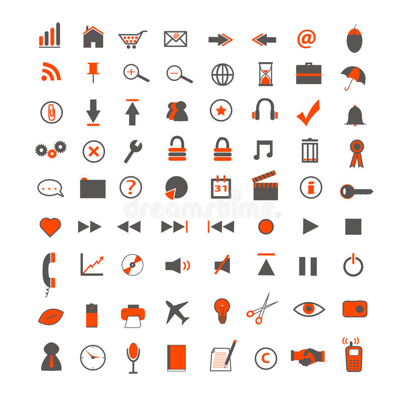 Download Web and Business Icons stock vector. Illustration of icons - 13798386