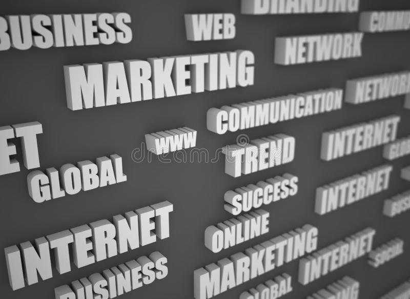 Web business related buzz words stock image