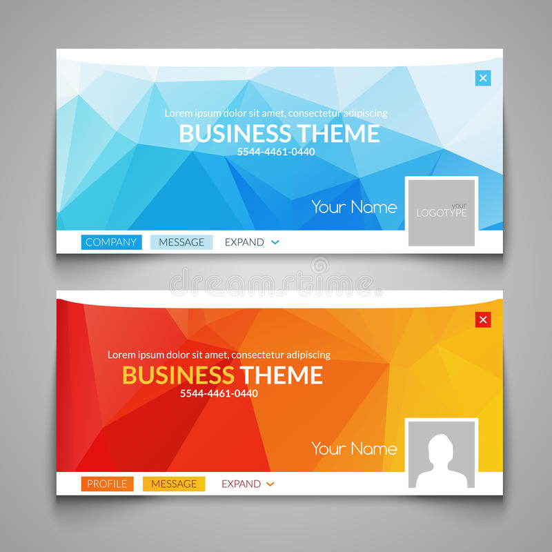 Web business site design, Header Layout Template. Creative corporate advertisement cover. Web design layout. Banner royalty free illustration