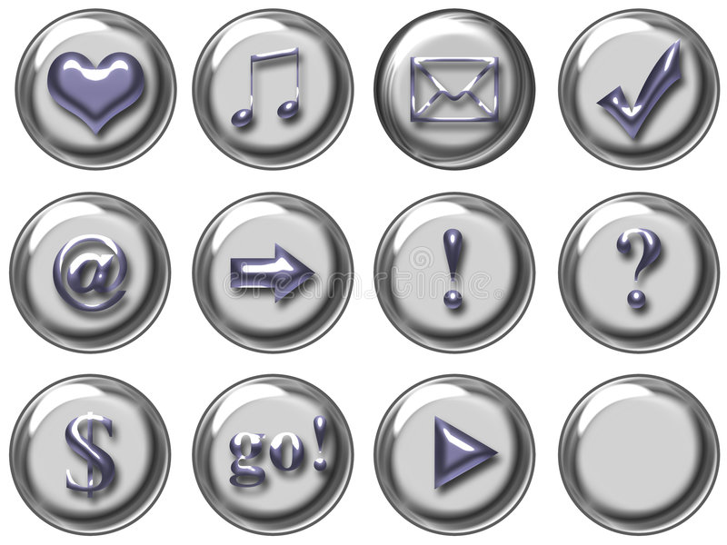 Web button stock image