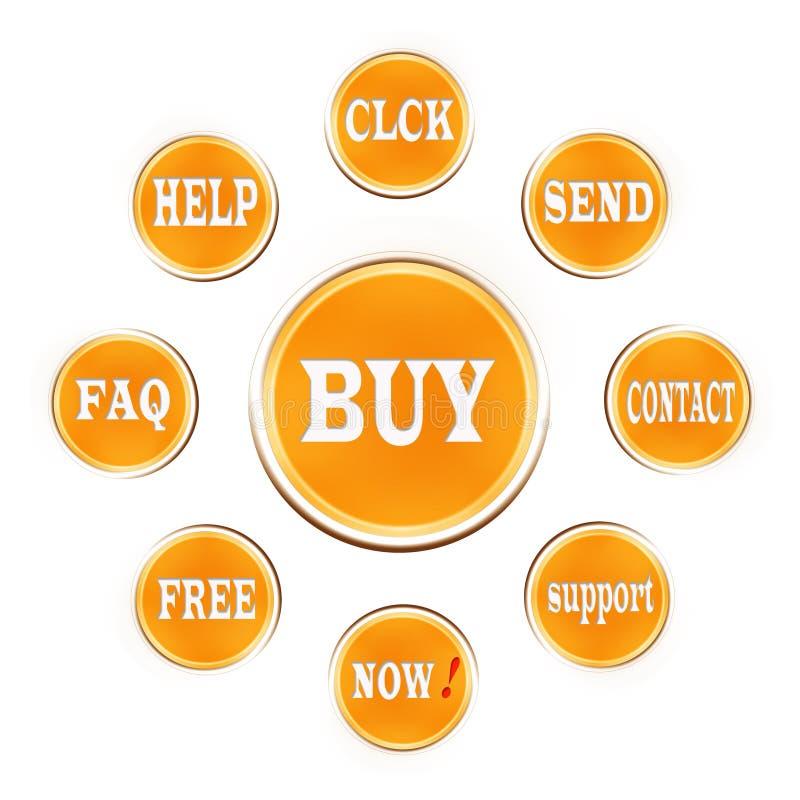 Web button-buy royalty free stock photos