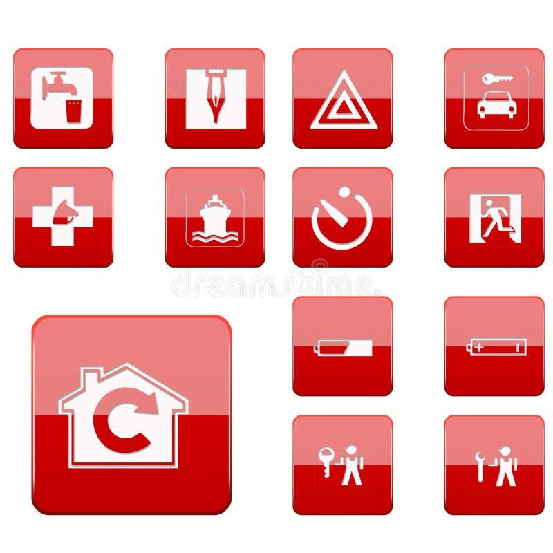 Web button collection royalty free stock photos