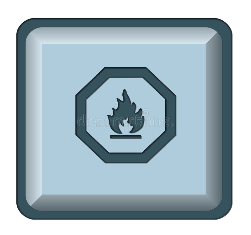 Free Web Button Fire Royalty Free Stock Image - 5215546