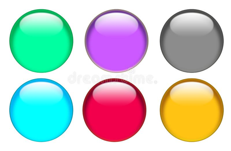Web button icon on white background. button for your web site design, logo, app, UI. glassy button set sign royalty free illustration
