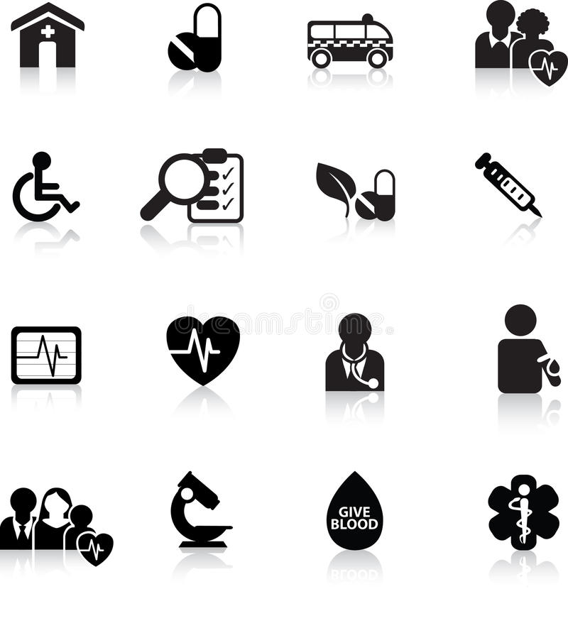 Web button medical royalty free illustration