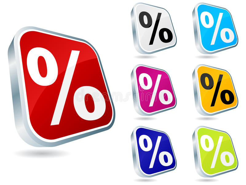 Download Web Button With Percent On It Stock Vector - Image: 12424449