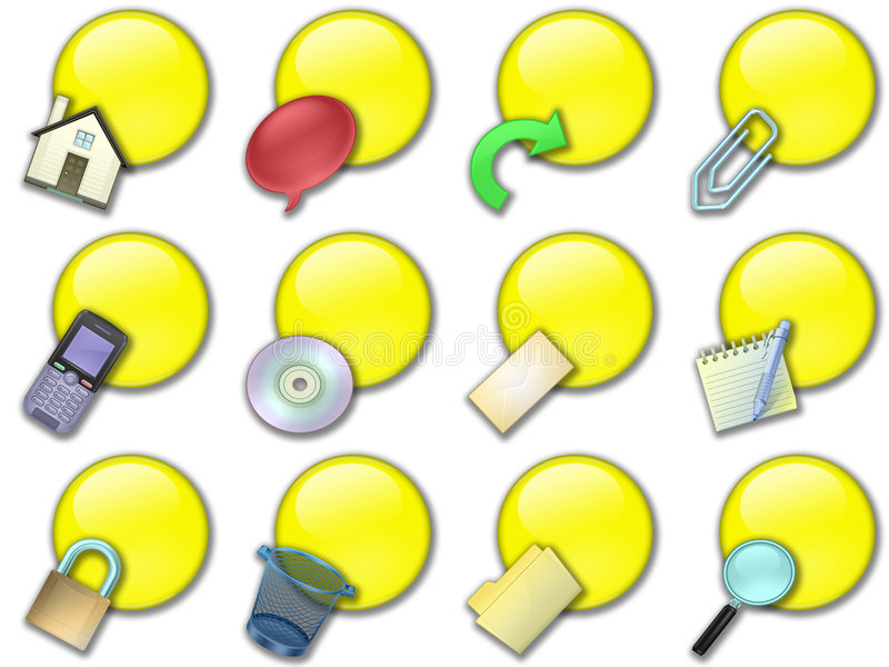 Download Web button rounded yellow stock illustration. Image of liquid - 7575117