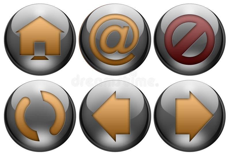 Download Web Button Set Stock Photo - Image: 7447470
