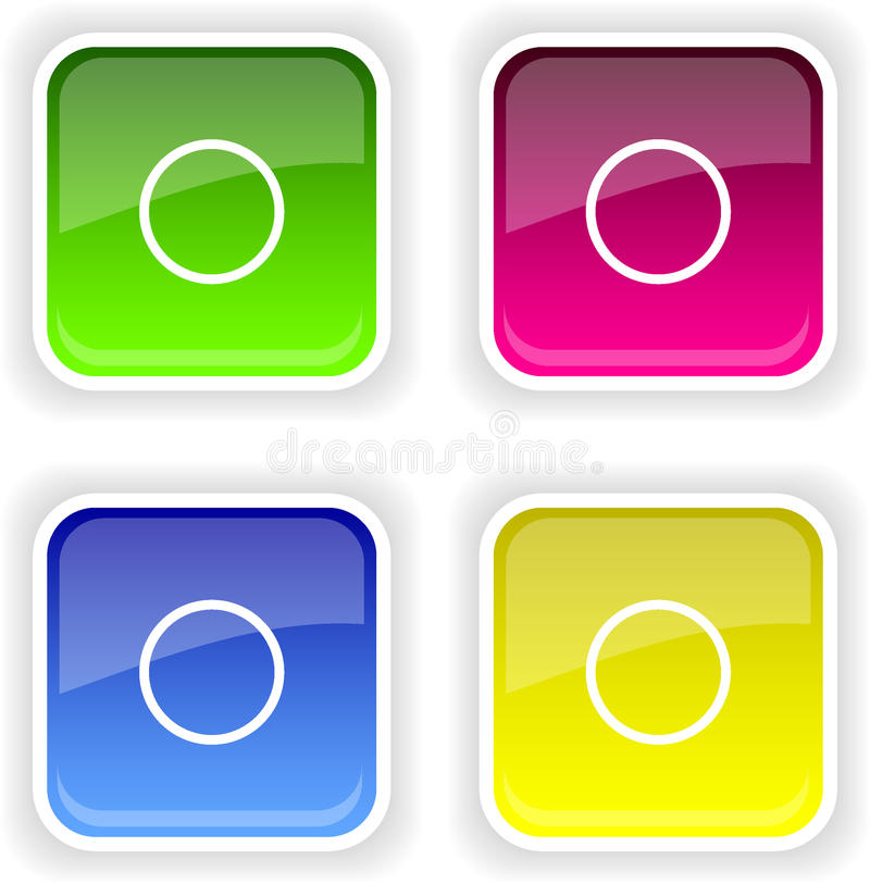 Web buttons stock photos