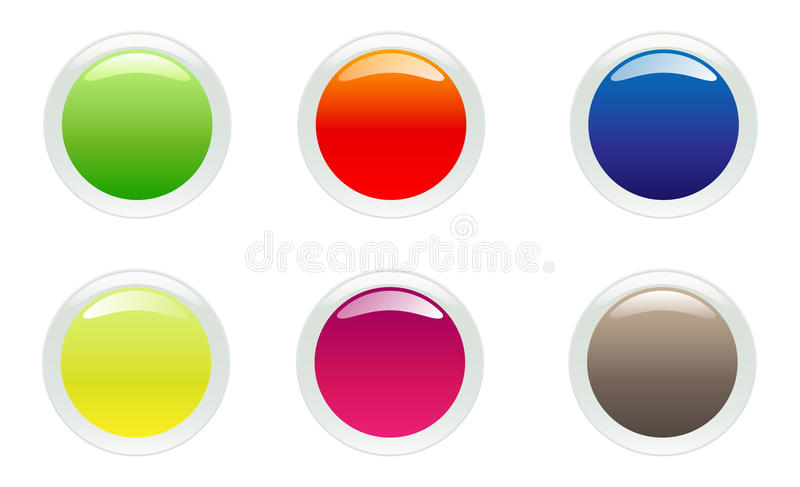 Web buttons vector illustration