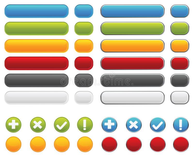 Download Web Buttons stock illustration. Image of sign, design - 12804104