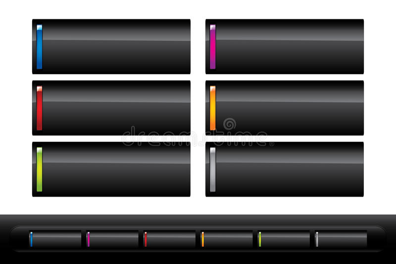 Download Web buttons stock vector. Image of shadow, shiny, colors - 13196837