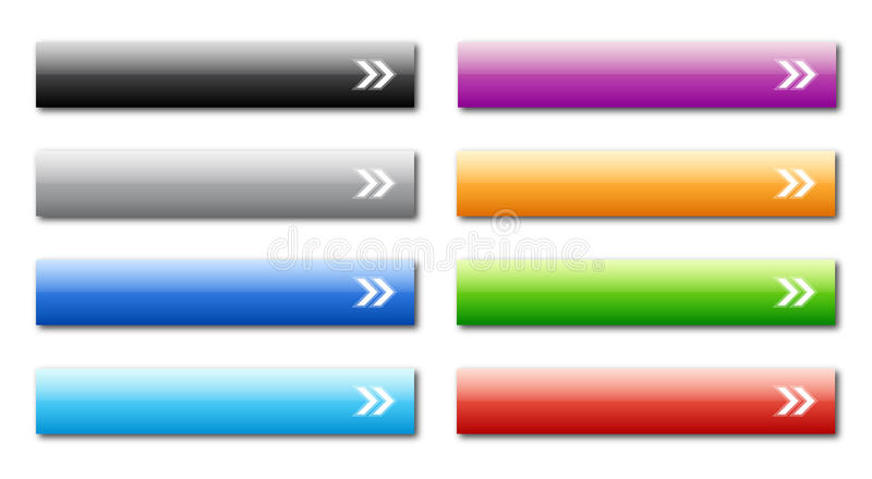 Download Web buttons stock vector. Image of elements, colors, design - 18005276